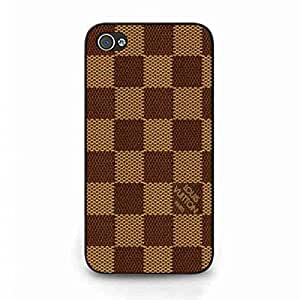 France Luxury Brand LV Louis and Vuitton Phone Funda,Popular Classic Louis and Vuitton Lattice Pattern Simple Cover,Iphone 4(S) Back Funda