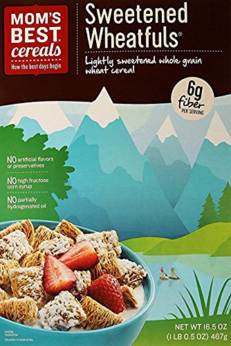 Mom's Best Sweetened Wheatfuls Whole Grain Wheat Cereal 16.5 oz. (Pack of 2)