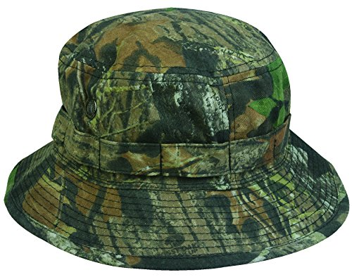 Mossy Oak Camouflage Boonie Hat with Adjustable Chin Strap