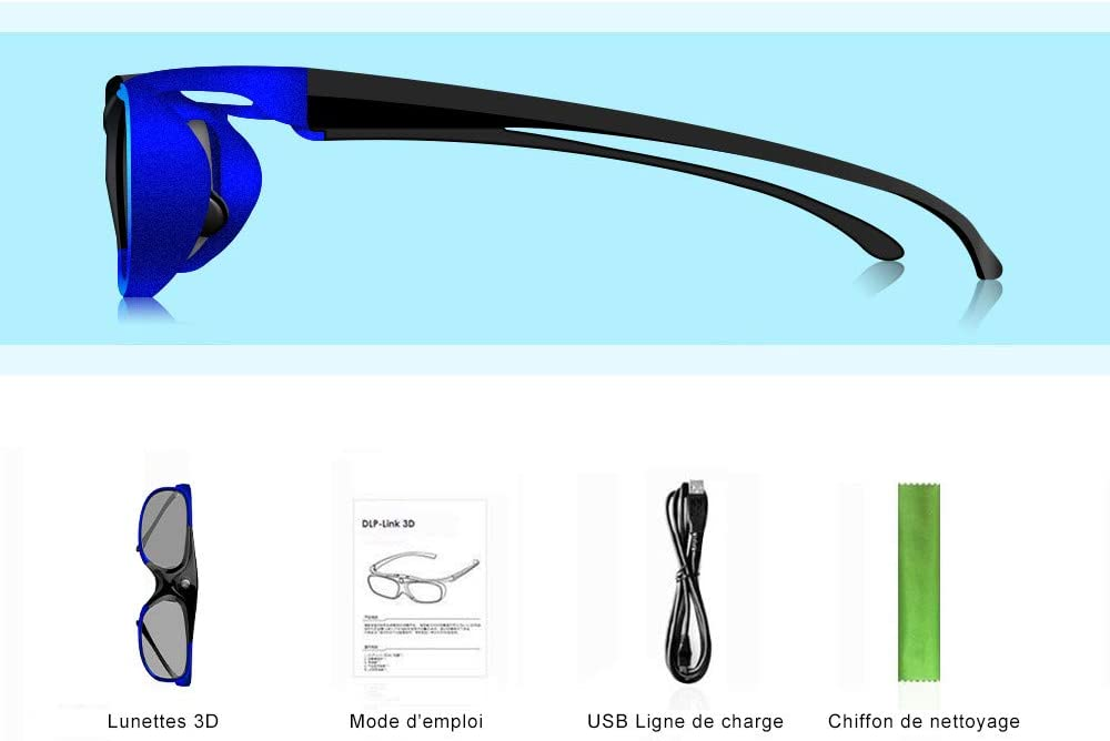 Elephas DLP-Link – Gafas 3D Recargables para Todos los proyectores ...