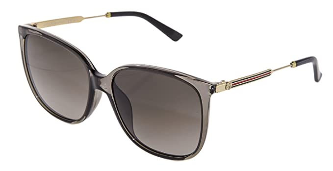 30935bdbf15 Image Unavailable. Image not available for. Colour  GUCCI Oversized Square  Metal GG3859S Gold Grey Stripe ASIAN FIT Sunglasses 3859