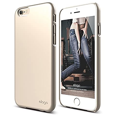 iPhone 6S Case, elago [Slim Fit 2][Soft Feel Champagne Gold] - [Light][Minimalistic][True Fit] – for iPhone (Phone Covers For Iphone 6 Elago)