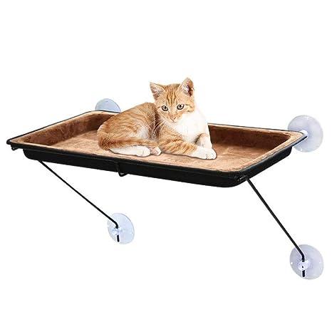 Rhww Hamaca para Gato con Ventosas por Gatos Grandes, Espacio Ahorro Mascota Hamaca Descansando Cama