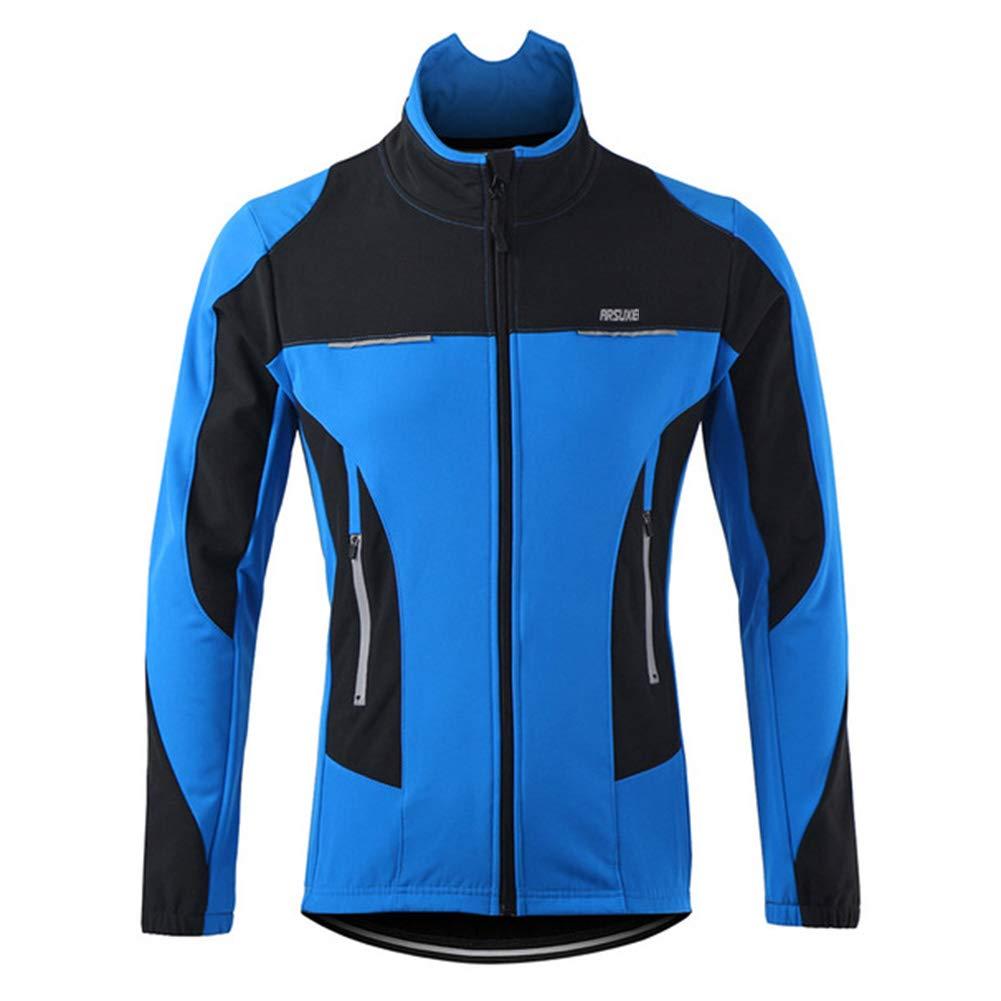 QWERT Winter Thermal Radjacke MTB Bike Jacke Sports Softshell-Mantel-Fahrrad-Kleidung Reflektierende windundurchlässige wasserdicht