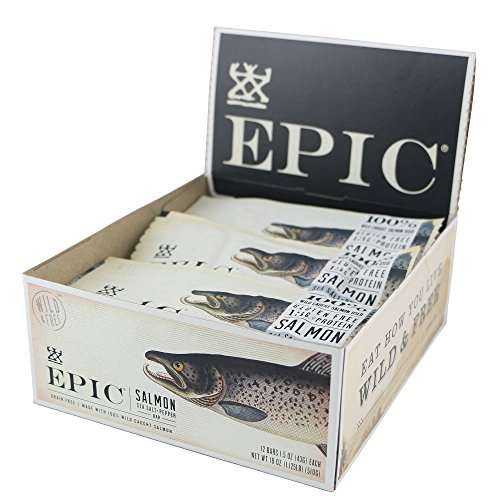 Epic All Natural Meat Bar, Salmon, Sea Salt and Pepper, 12 count