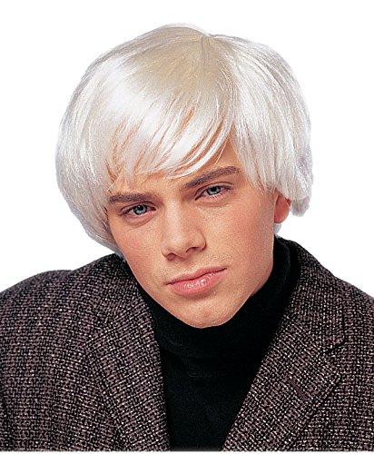 White Wig Men (Costume Culture Men's Artist Wig, Platinum, One Size)