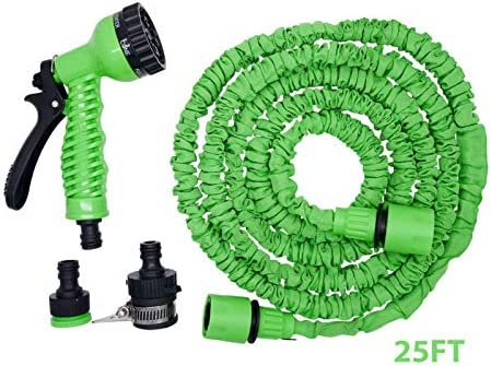 MASO 25FT Expanding Garden Water Hose Pipe Anti-leakage Lightweight Easy Storage for Washing Car//Watering Flowers//Vegetables//Cleaning Windows//Floor