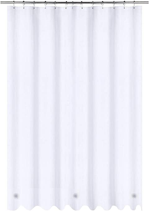 Amazon Com Utopia Bedding 6 Gauge Peva Shower Curtain Liner White 72 By 72 Inches Eco Friendly With Metal Grommets Home Kitchen