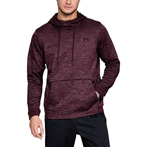Hoody Sweatshirt Maroon (Under Armour Men's Armour Fleece Twist Pull Over Hoodie, Dark Maroon (600)/Black, XX-Large)