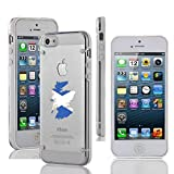Apple iPhone 4 4s Ultra Thin Transparent Clear Hard TPU Case Cover Scotland Scottish Flag (White)