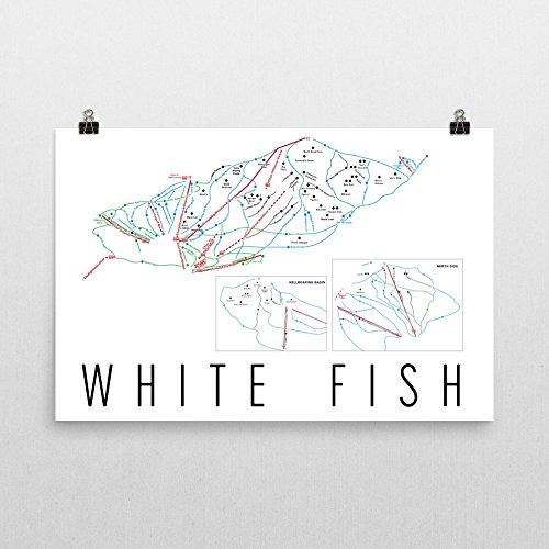 Whitefish Poster, Whitefish Ski Resort Poster, Whitefish Art Print, Whitefish Trail Map, Whitefish Trail Map Art, Whitefish Wall Poster, Whitefish Montana Gift