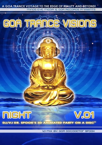 GOA Trance Visions v1 Night 2 Disc DVD/CD [gtvdvd001n] VJ/DJ Mix by Goa Doc aka Dr Spook (GOA REC) - Rec Cd