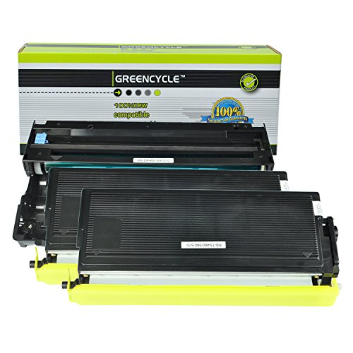 GREENCYCLE Compatible TN560 Toner Cartridge and DR500 Drum Unit Replacement for Brother DCP-8020 MFC-8420 HL-1650 HL-1650N HL-1850 HL-1870N HL-5040 HL-5070N Series Printers (Black, 2 Toner, 1 Drum)