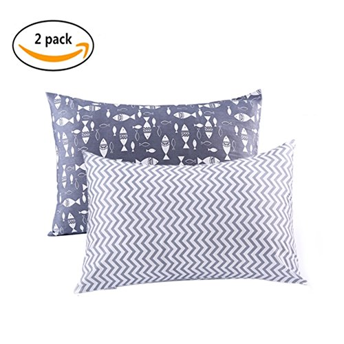 Kids Toddler Pillowcases UOMNY 2 Pack 100% Cotton Pillowslip Case 13 x 18