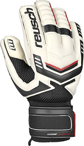Surround Goalkeeper Glove (Reusch Soccer Re:Load Prime M1 Negative Cut Ortho-Tec Goalkeeper Glove, White/Black, Size 11)