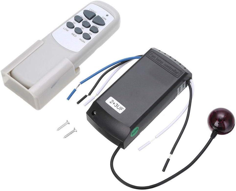 vap26 Ventilador de Techo Control Remoto Completo Kit Remoto Inalámbrico Controlador - 3 Velocidad Cubiertos & Luz Control - como el Fotos, Free Size