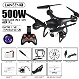 AKDSteel LF608 WI-FI F-PV RC Drone Quadcopter with 0.3MP/2.0MP/5.0MP Camera Get The Longer Playing Time Black 5MP Gift Toy