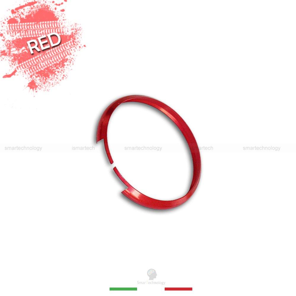 ANELLO DECORATIVO ROSSO RED COVER RING PER AUTO MINI COOPER ONE D S COUNTRYMAN IN ALLUMINIO GUSCIO SCOCCA TELECOMANDO CHIAVE PORTACHIAVI