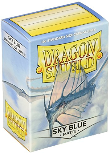 Dragon Shield Sleeves Matte Sky Card Game, Blue by Arcane Tinman