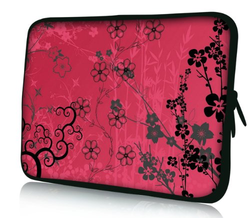 Luxburg® Design Laptoptasche Notebooktasche Sleeve für 14,2 Zoll, Motiv: Sakura pink