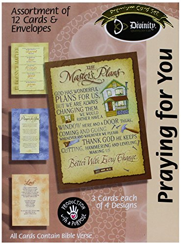 Divinity Boutique Greeting Card Assortment - Praying for You, Master's Plan (17942N)