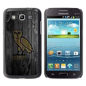 Be Good Phone Accessory // Dura Cáscara cubierta Protectora Caso Carcasa Funda de Protección para Samsung Galaxy Win I8550 I8552 Grand Quattro // Funny Minimalist Owl Eagle Wood