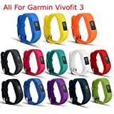 ULT-unite Colorful Replacement Strap Accessory Wristbands for Garmin Vivofit 3(No tracker, Replacement Bands Only) (13pcs)