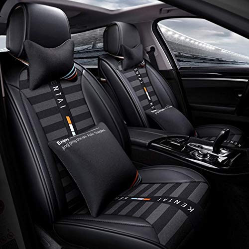 Breathable car seat cover Comfortable leather cushion Wear-resistant universal 3D leather seat cover for all seasons, fits most seats: