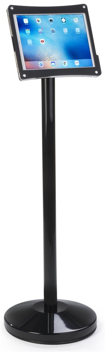 Displays2go, Round Base, Power Cord Management, Steel, Plastic, Acrylic – Black (POSIPDFLBP) by Displays2go (Image #3)