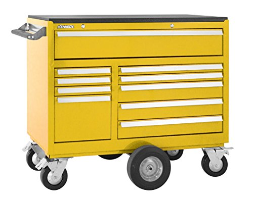 Kennedy Manufacturing 4400MPYW 44'' 10-Drawer Maintenance Pro Double-Bank Roller Cabinet, Industrial Yellow by Kennedy Manufacturing