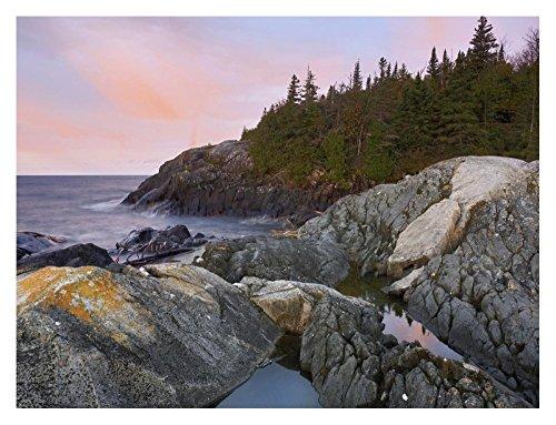 Global Gallery Dp 397049 2432  Tim Fitzharris Horseshoe Bay On Lake Superior Pukaskwa National Park Thunder Bay Canada  Unframed Giclee On Paper Print  24  X 32