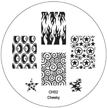 Amazon.com : CH52 Professional Nail Art Salon Quality Stamp Template ...