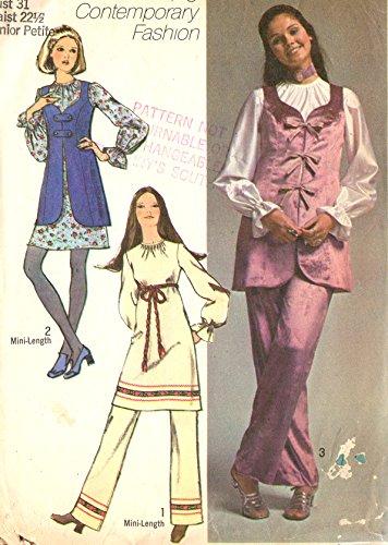 Simplicity vintage sewing pattern 9117 mod outfit - Junior Petite size 5jp -