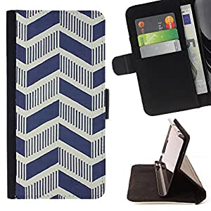 Jordan Colourful Shop - chevron vintage art deco wallpaper pattern For Apple Iphone 6 - Leather Case Absorci???¡¯???€????€???????&bd