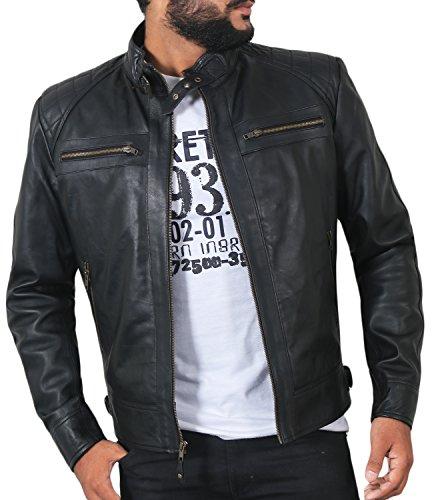 Laverapelle Men's Black Genuine Lambskin Leather Jacket - 1501344-3XL