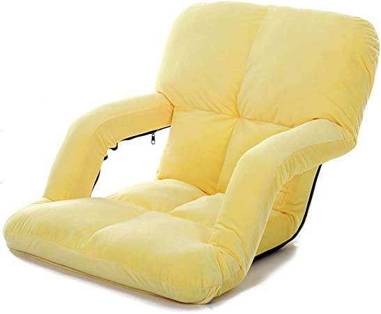 Chaise pliante paresseux, plancher pliant avec accoudoirs