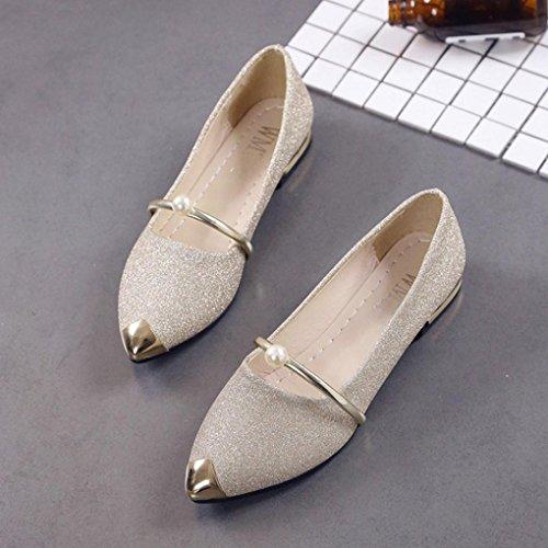 ホット販売、aimtoppyレディースPointed Toe Ladise靴カジュアルローヒールフラットシューズ US:9.5 ブラック AIMTOPPY