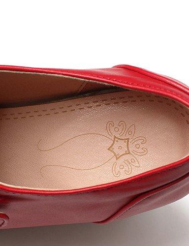 Njx 5 Leatherette Uk3 Nero us5 Outdoor 5 Platform Casual Cn35 donna Bianco da Rosso Heels Hug Scarpe Eu36 Black rYPar6