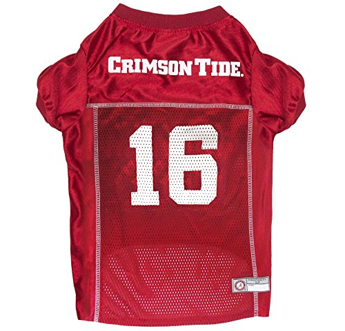 Pets First NCAA Alabama Crimson Tide #16 National Champions Pet Jersey, Small
