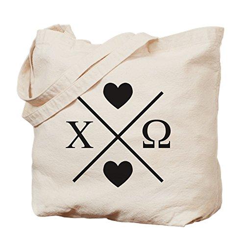 CafePress–Chi Omega Cruz–Gamuza de bolsa de lona bolsa, bolsa de la compra