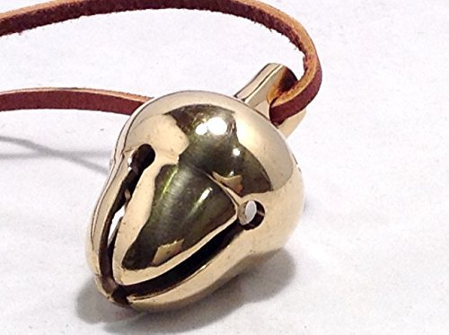 Elf Favorite Polar Double Chamber Gold Sleigh Bell From Santa's Sleigh W Velvet Sack Express From the Workshop