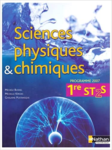Sciences physiques et chimiques 1e ST 2S pdf