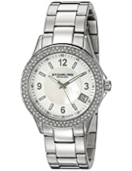 Stuhrling Original Women's 887.01 Vogue Iris Analog Display Swiss Quartz Silver Watch