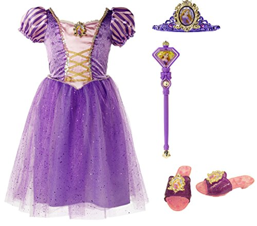 Disney Princess 94899 Rapunzel Tiara to Toes Dress