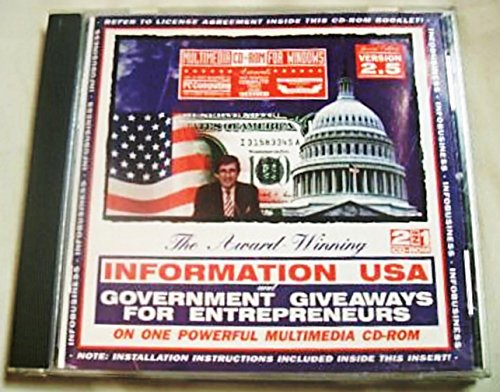 Information USA Government Giveaways for Entrepreneurs Matthew Lesko Multimedia 2-in-1 CD-ROM, 1995 Special Edition Version ()