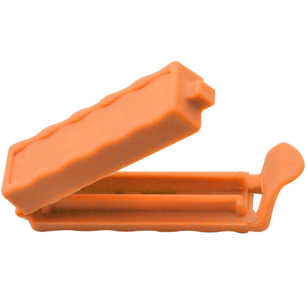 con 160 etiquetas adhesivas para etiquetar 20 piezas - colorido COM-FOUR/® 20 clips de cierre de pl/ástico en varios colores y tama/ños
