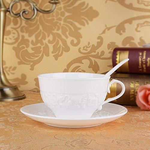 MOCER Einfache Keramische Tassen große Kapazität Becher Kaffee Milch Cup Büro Cups kreative Frühstück Tasse mit Deckel, Löffel, Französisch Filter Cup L mit Grüne Abdeckung B077ZVF9GM Kaffeetassen Zu einem niedrige