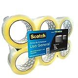 Scotch Cinta de Empaque Transparente 6 pack, 48mmX150m