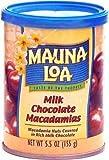 Mauna Loa Macadamia Nuts, Milk Chocolate, 4.5 Ounce Cans (Pack of 6)