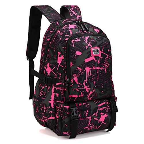 Women Men Nylon Backpack Travel School Laptop Bag Clutch Handbag Clearance Tassel Messenger Strap Tote on sale Kids Coin Phone Satchel Purse Card Holder Case (Pink)]()